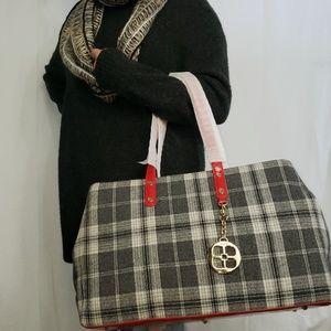 🆕️IMAN Fall & Winter Shoppers Tote Handbag Plaid